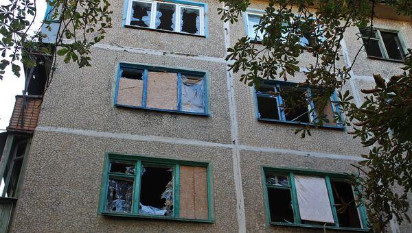 Последствия обстрела Куйбышевского района Донецка украинскими силовиками