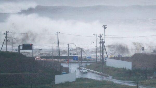 Тайфун Лайонрок в префектуре Мияги. Япония, 30 августа 2016