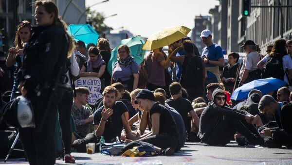 Акция Blockupy в Берлине