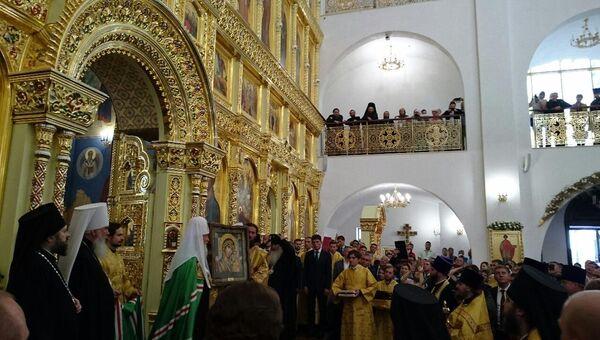 Патриарх Кирилл освятил кафедральный собор Рождества Христова в Южно-Сахалинске и совершил в нем литургию