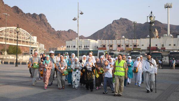 Российские паломники, совершающие хадж в Мекку, прибыли в город Медина. 2 сентября 2016