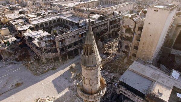 Восточные кварталы Алеппо, захваченные боевиками. Архивное фото