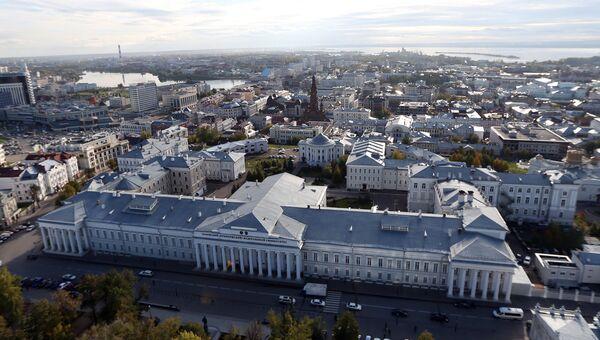 Вид на город Казань, столицу Татарстана. Архивное фото