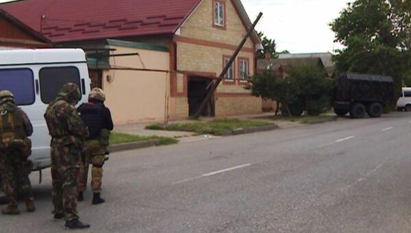 Контртеррористическая операция в Избербаше. Кадр из видео. Архивное фото