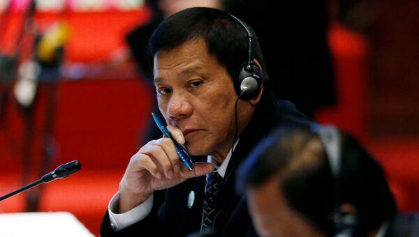 Президент Филиппин Родриго Дутерте на саммите АСЕАН в Лаосе. 7 сентября 2016