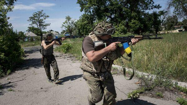 Солдаты ВСУ возле Марьинки, Донецкая область, Украина