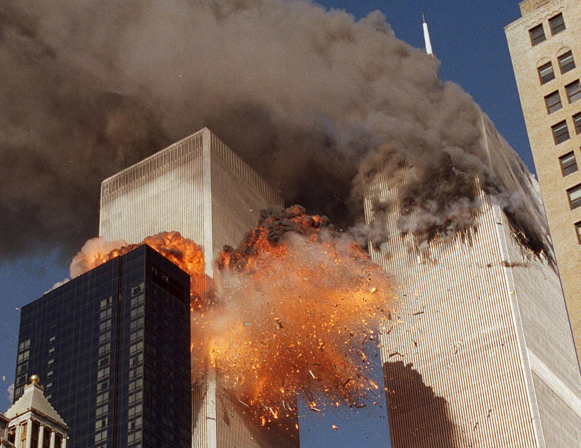 Во время теракта 11 сентября 2001 года в Нью-Йорке - РИА Новости, 1920, 03.09.2021