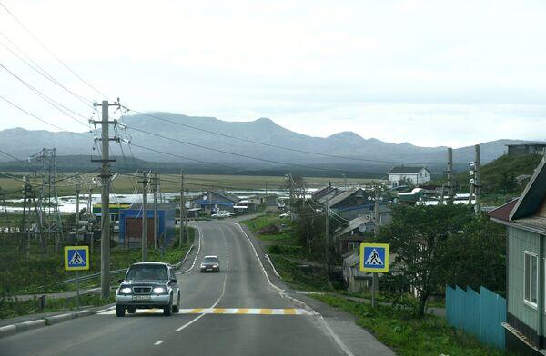 Поселок Южно-Курильск на острове Кунашир