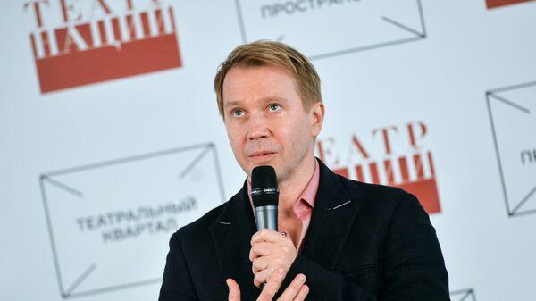 Художественный руководитель Государственного Театра Наций Евгений Миронов во время открытия нового сезона