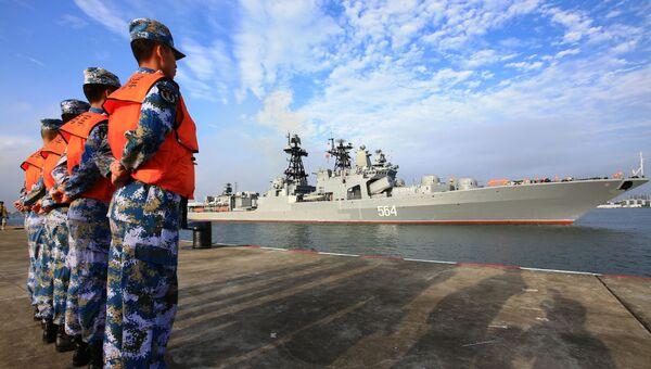 Российско-китайские учения Морское взаимодействие-2016. Архивное фото