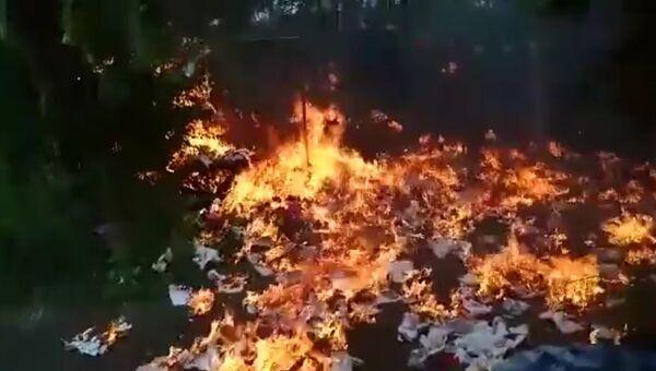 Немец хотел избавиться от мусора и сжег сад