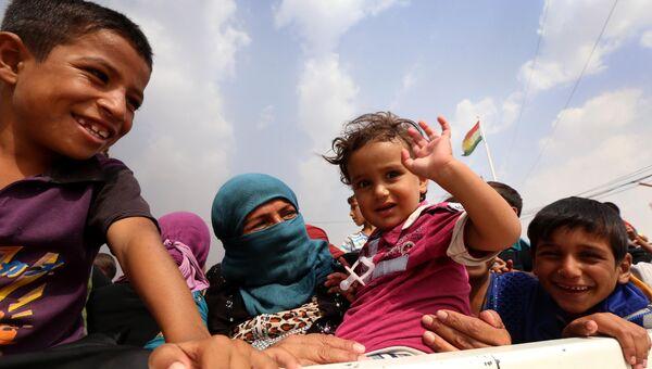 Иракские беженцы из Мосула. Архивное фото