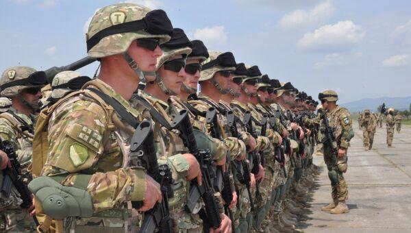 Военнослужащие Грузинской армии