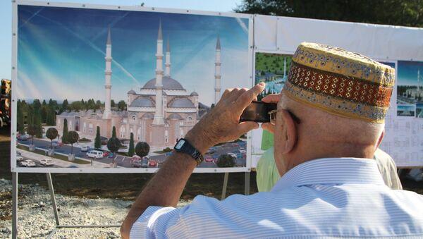 Начало строительства соборной мечети в Крыму. Архивное фото