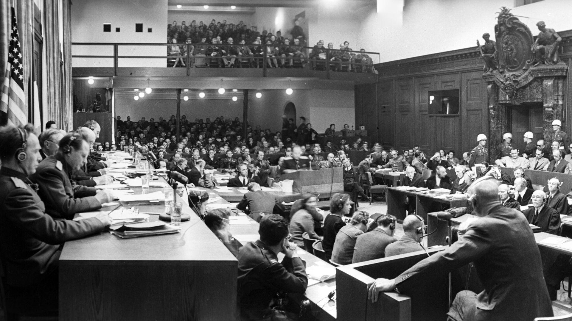 Одно из заседаний Международного военного трибунала - РИА Новости, 1920, 20.11.2020