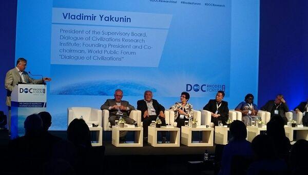 Основатель Родосского форума Владимир Якунин. 2 октября 2016