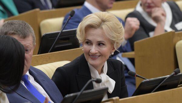 Депутат Ирина Яровая на заседании Государственной Думы РФ. Архивное фото