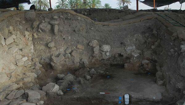 Следы древнего пожара в городе Армагеддона на севере Израиля
