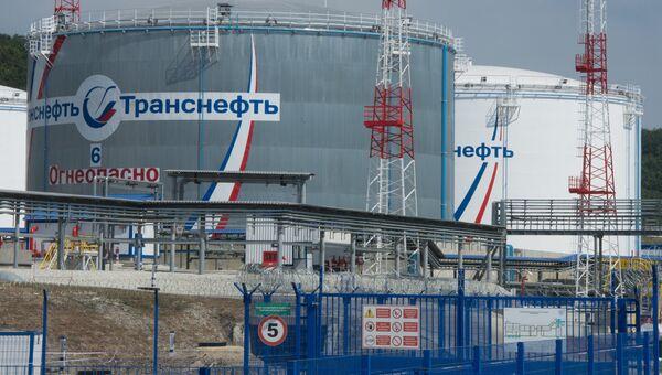 На территории нефтеперевалочного комплекса Шесхарис АО Черномортранснефть в Новороссийске. Архивное фото