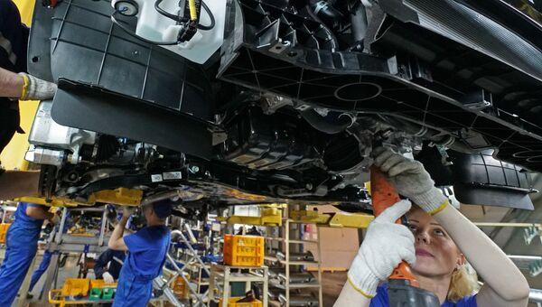 Производство автомобиля Hyundai Tuscon в Калиниграде. Архивное фото