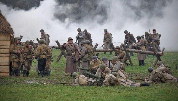 Реконструкция битвы за Москву в музее-заповеднике Бородинское поле