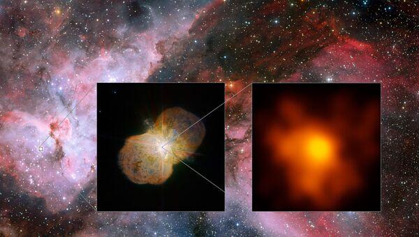Самая четкая на сегодня фотография Эты Киля, сверхяркой и нестабильной звезды