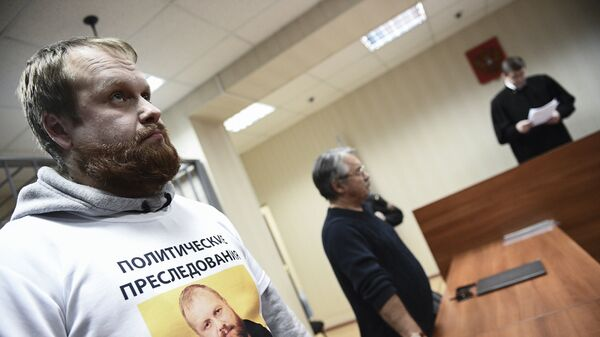 Бывший руководитель Славянского союза Дмитрий Демушкин, обвиняемый в экстремизме в Пресненском суде Москвы