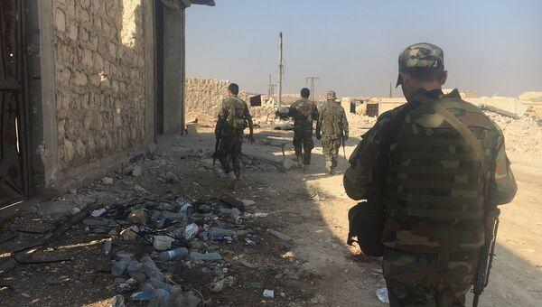 Бойцы сирийской армии готовятся к началу наступления на юге Алеппо