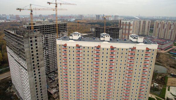 Строительство новых жилых кварталов в Подмосковье. Архивное фото