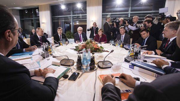 Встреча лидеров стран нормандской четверки в Берлине