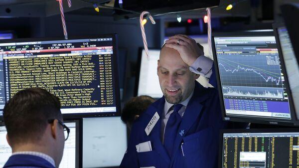 Трейдеры на фондовой бирже. Архивное фото