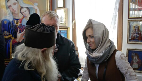 Депутат Государственной Думы РФ Наталья Поклонская открыла часовню у здания прокуратуры в Симферополе