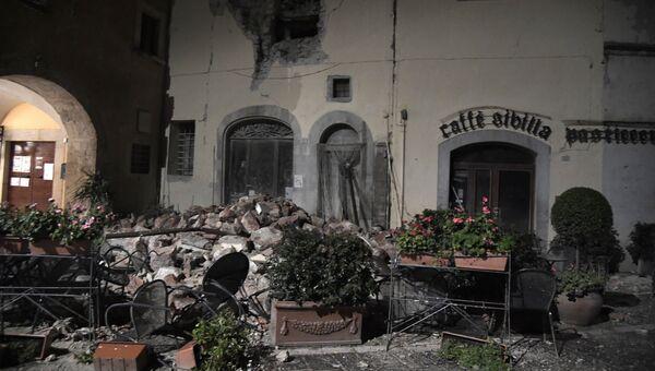 Последствия землетрясения в провинции Мачерата, Италия. 27 октября 2016