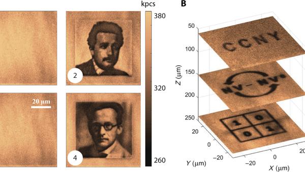 Трехмерные голограммы, записанные учеными внутрь алмазов