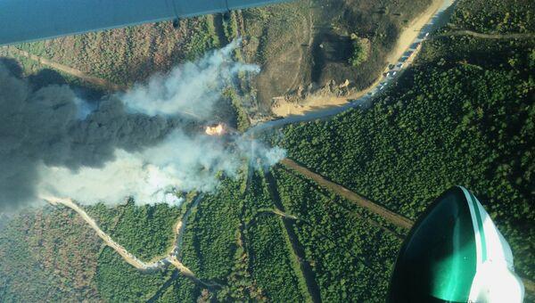 Пожар, вызванный взрывом трубопровода Colonial Pipeline в округе Шелби, штат Алабама. 31 октября 2016