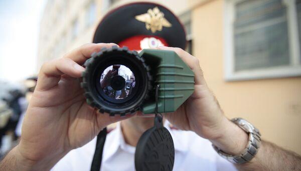 Поисково-наблюдательный тепловизор Катран 2м - экспонат выставки современой спецтехники и транспорта МВД РФ