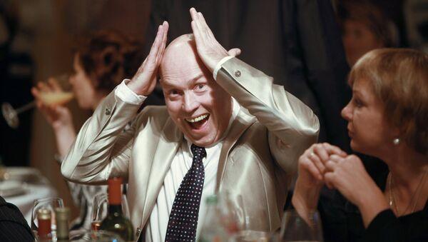 Актер Виктор Сухоруков на праздновании 50-летнего юбилея актера Олега Меньшикова
