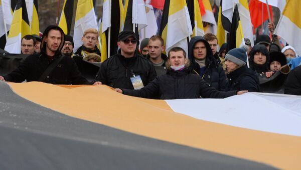 Участники шествия в Люблино