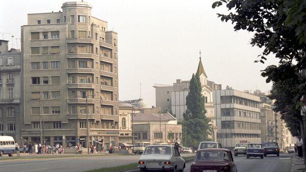На одной из улиц Бухареста. Архивное фото