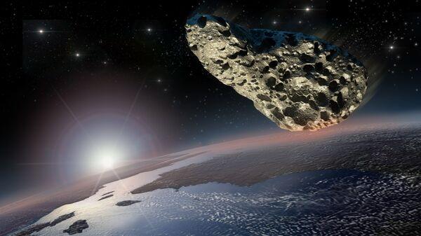 Астероид над Землей. Архивное фото