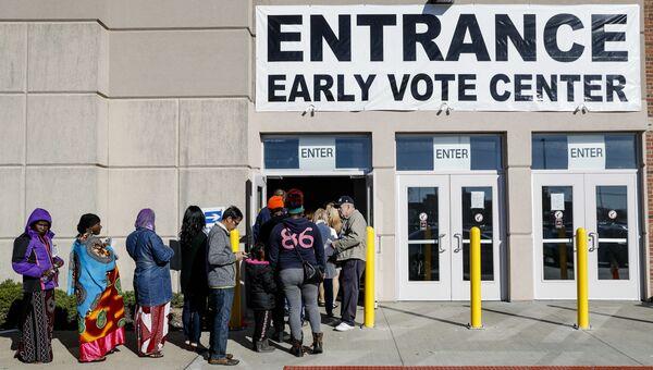 Досрочное голосование на выборах президента США в Коламбусе, штат Огайо