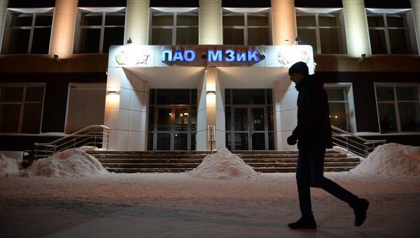 Центральный вход машиностроительного завода имени М.И. Калинина в Екатеринбурге, где в одном из цехов произошло обрушение крыши