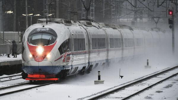 Скоростной поезд Сапсан. Архивное фото