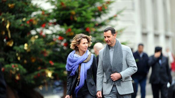Первая леди Сирии Асма аль-Асад с супругом Башаром Асадом
