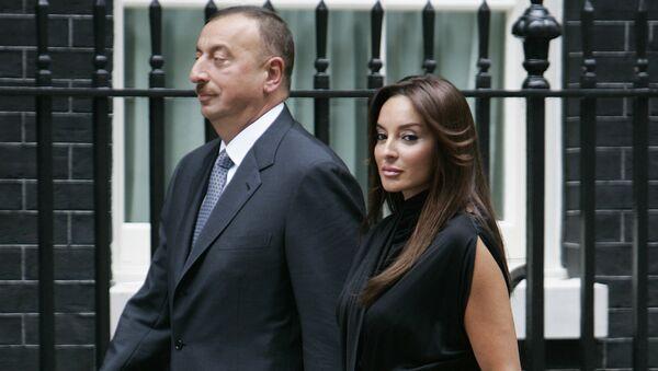 Президент Азербайджана Ильхам Алиев и его супруга Мехрибан Алиева. Архивное фото