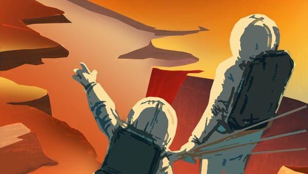 Постер NASA из серии Марс нуждается в вас!