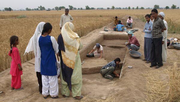Ученые проводят раскопки на территории древнего индийского поселения в долине реки Инд
