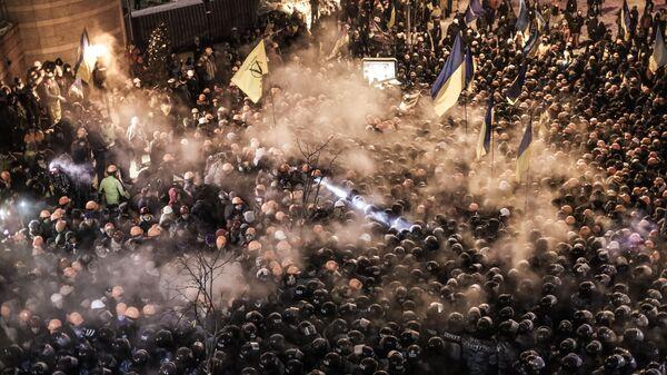 На площади Независимости в Киеве. Декабрь 2013 года. Архивное фото