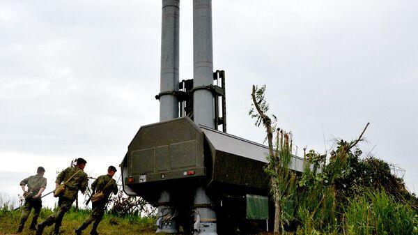 Новый береговой ракетный комплекс Бастион во время учений