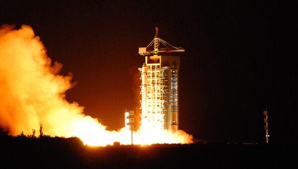 Запуск первого в мире спутника квантовой связи Мо-цзы (Micius) с космодрома Цзюцюань в провинции Ганьсу, КНР